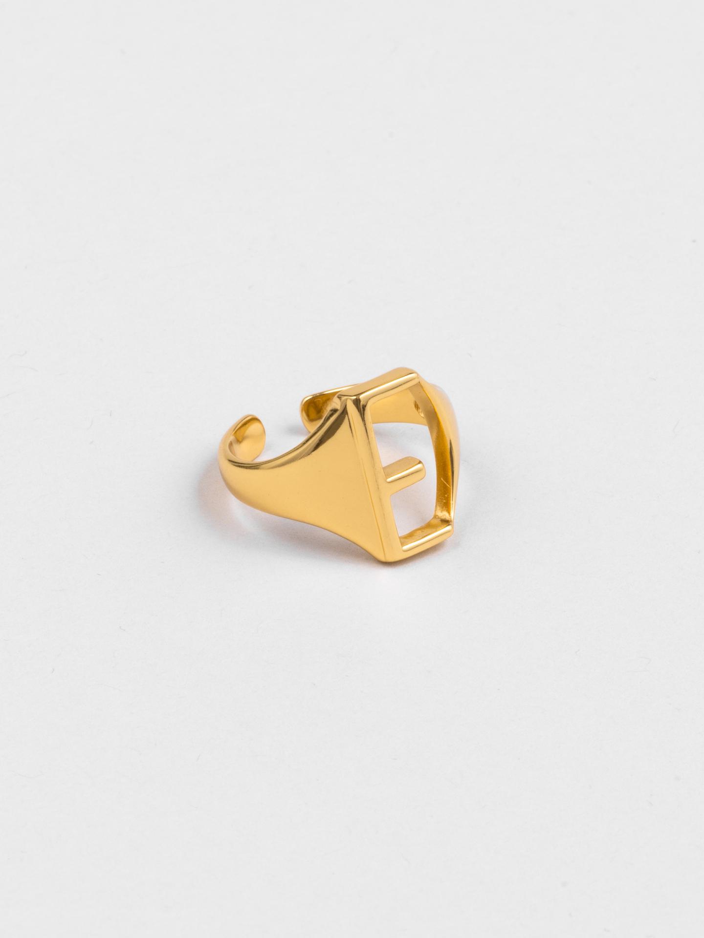 Letter E Ring