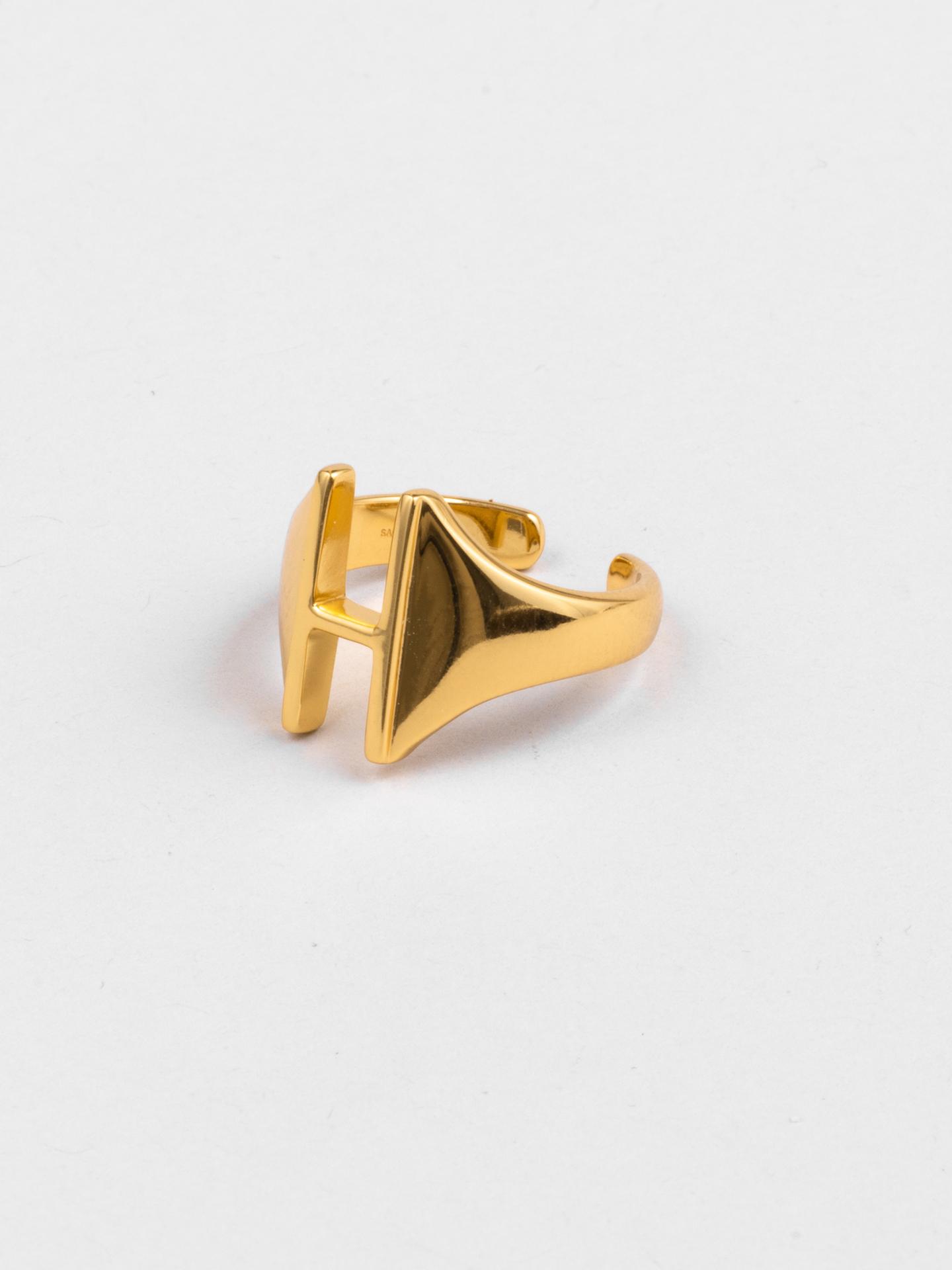 Letter H Ring