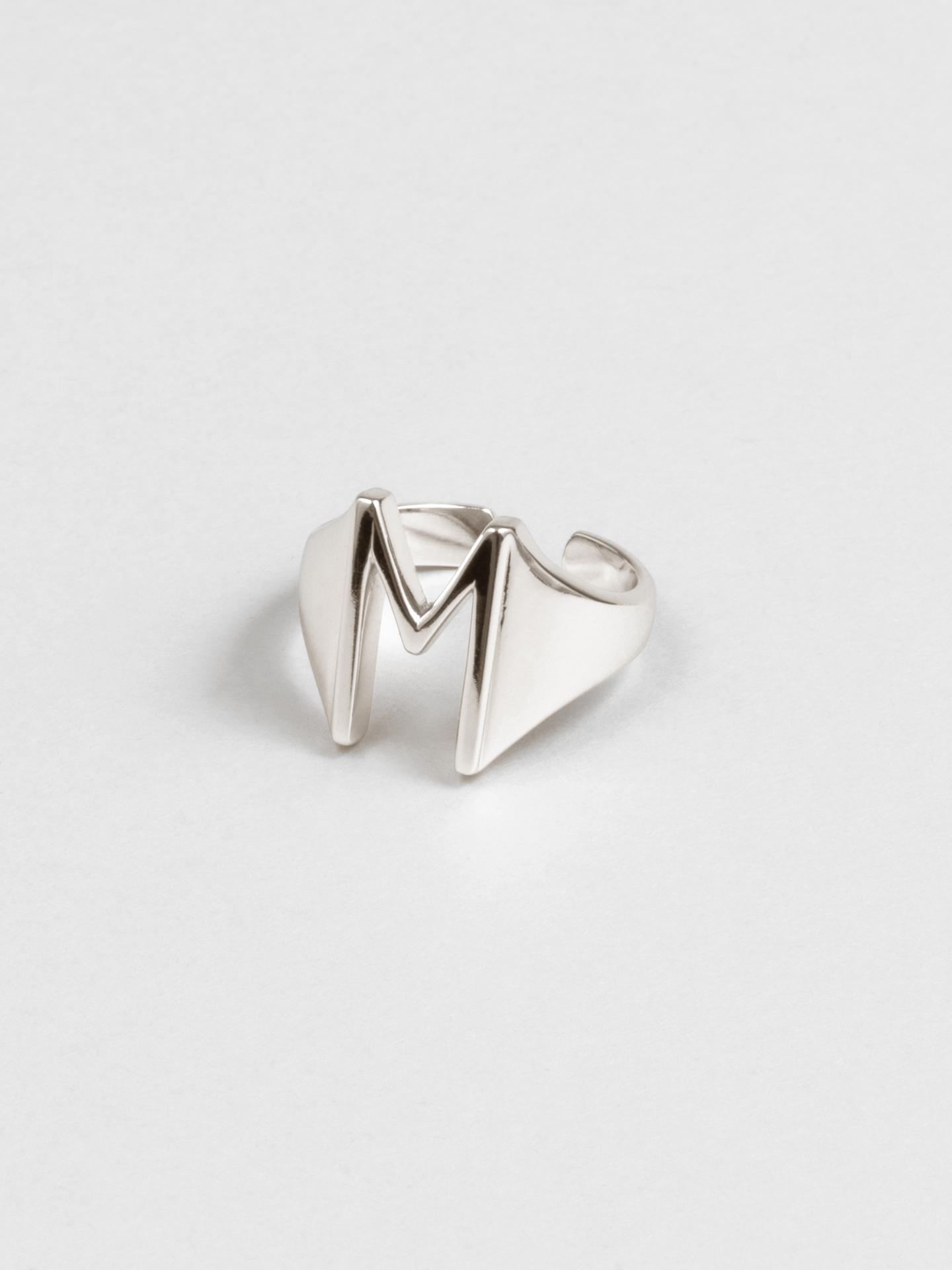Letter M Ring