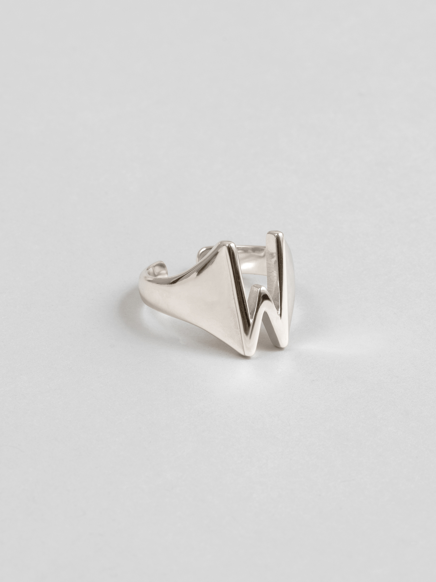 Letter W Ring