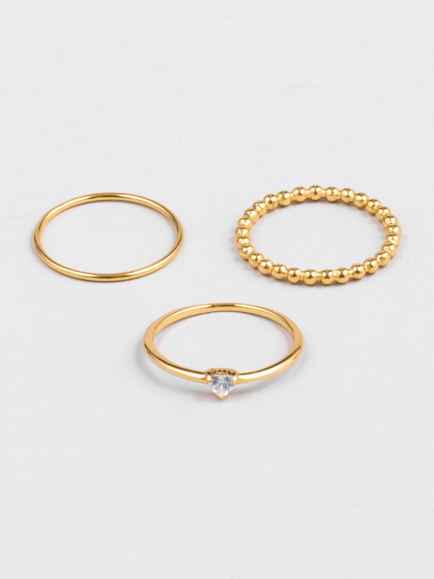 Stacking Diamond Heart Rings