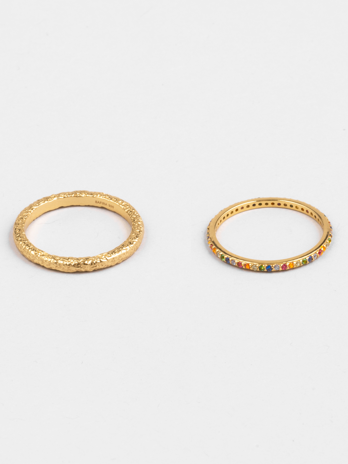 Rainbow Stacking Rings