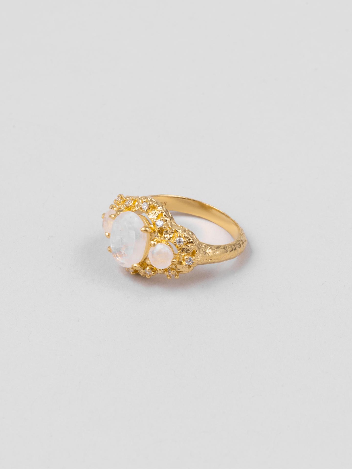 Trio Moonstone Ring