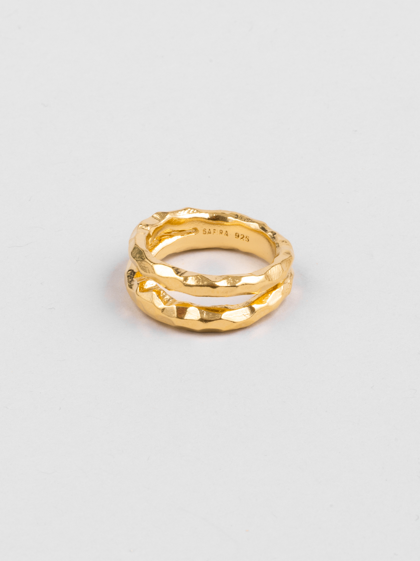 Double Hammered Ring
