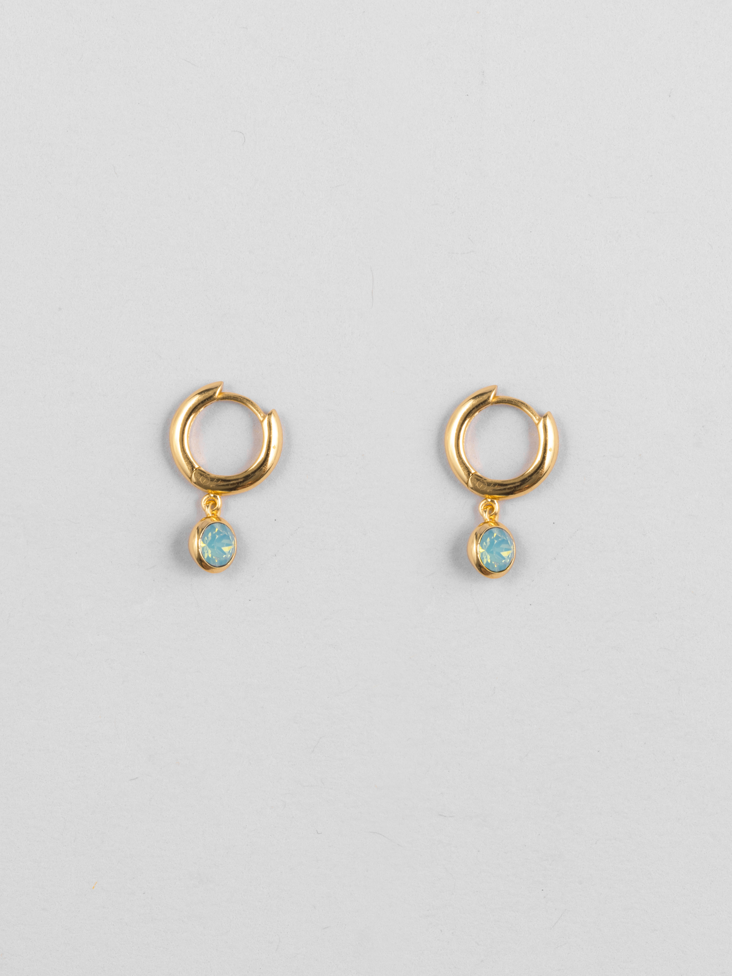 Pacific Swarovski Opal Hoops