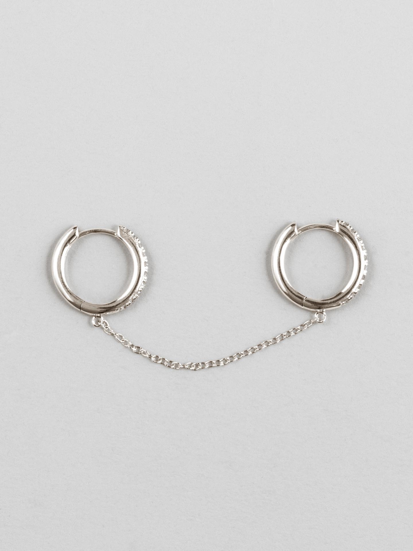 Chain Huggie Hoop