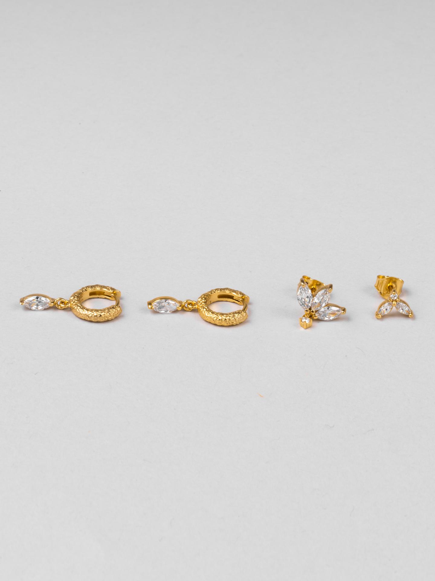 Diamond Flower Multipack Earrings