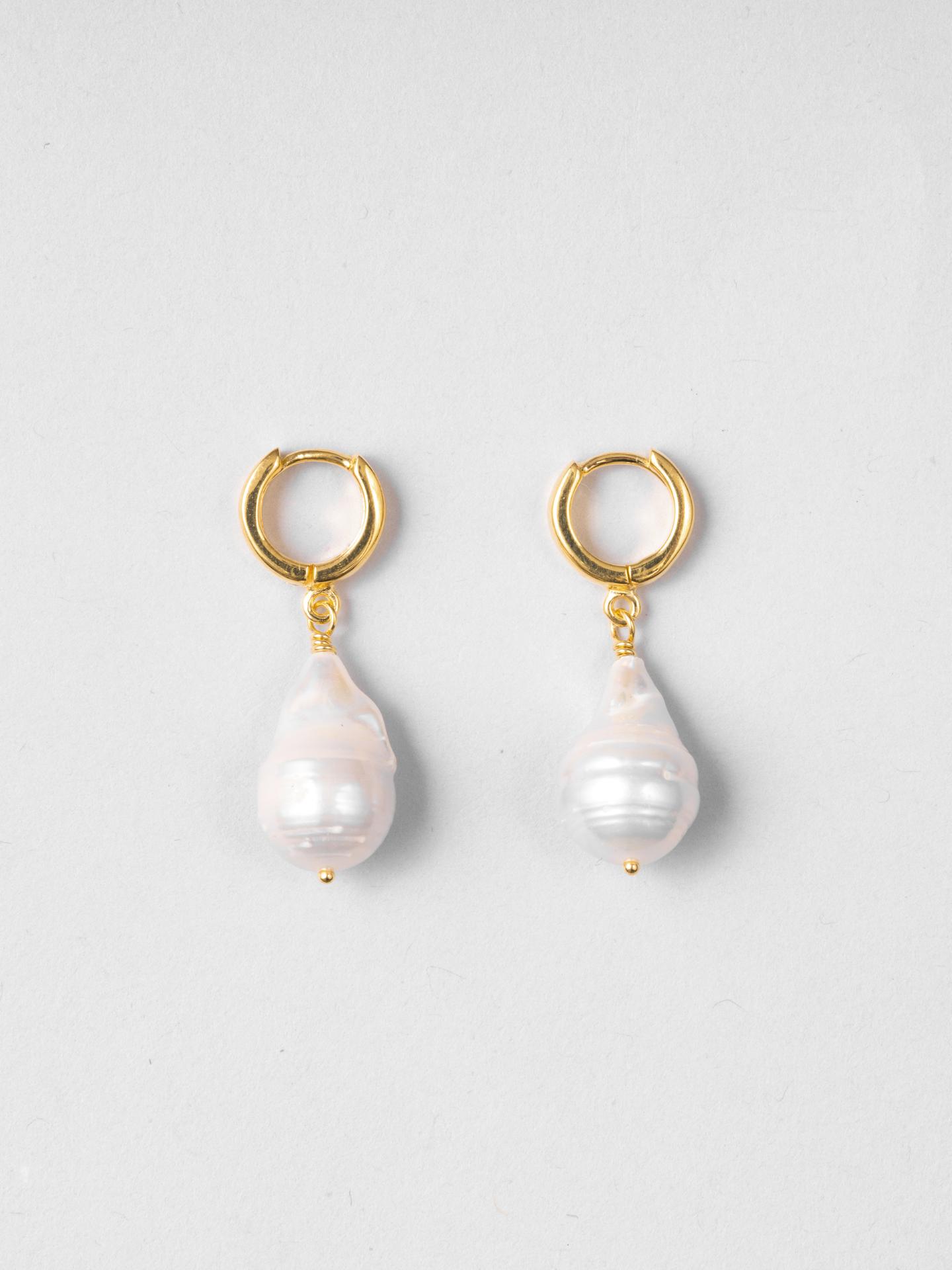 Baby Baroque Pearl Hoops
