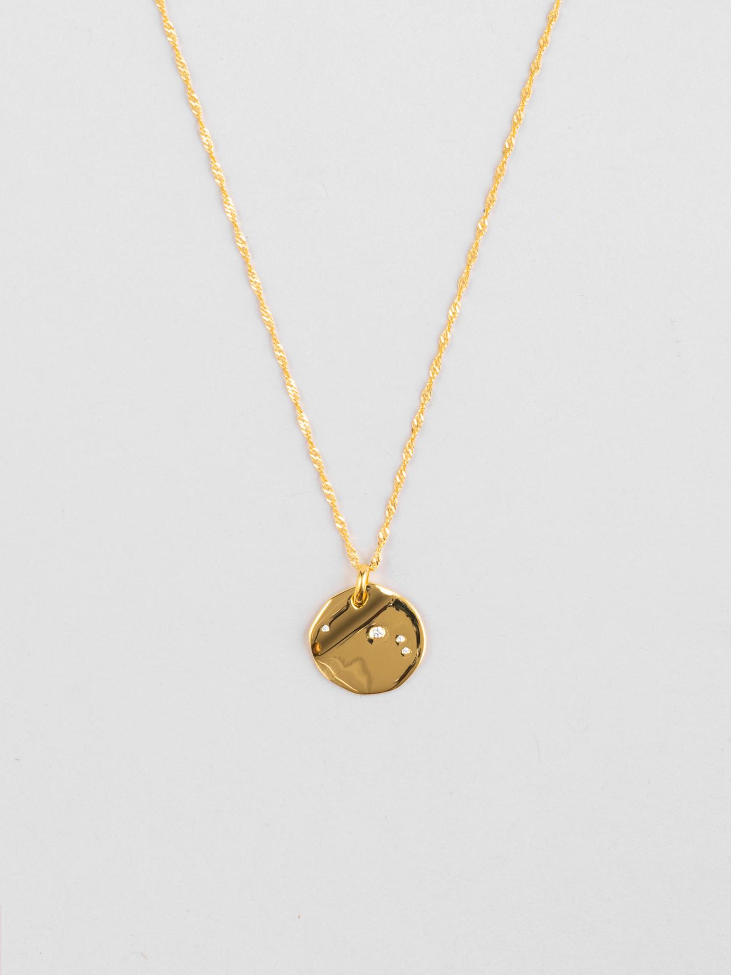 Aries Zodiac Disc Necklace