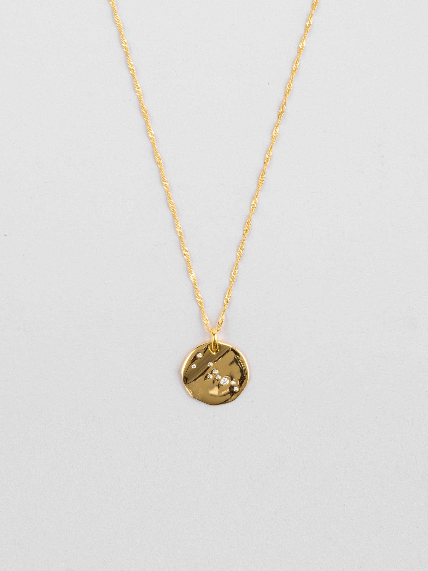 Taurus Zodiac Disc Necklace