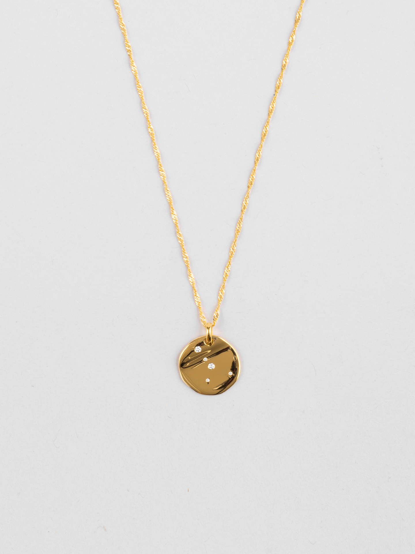 Cancer Zodiac Disc Necklace
