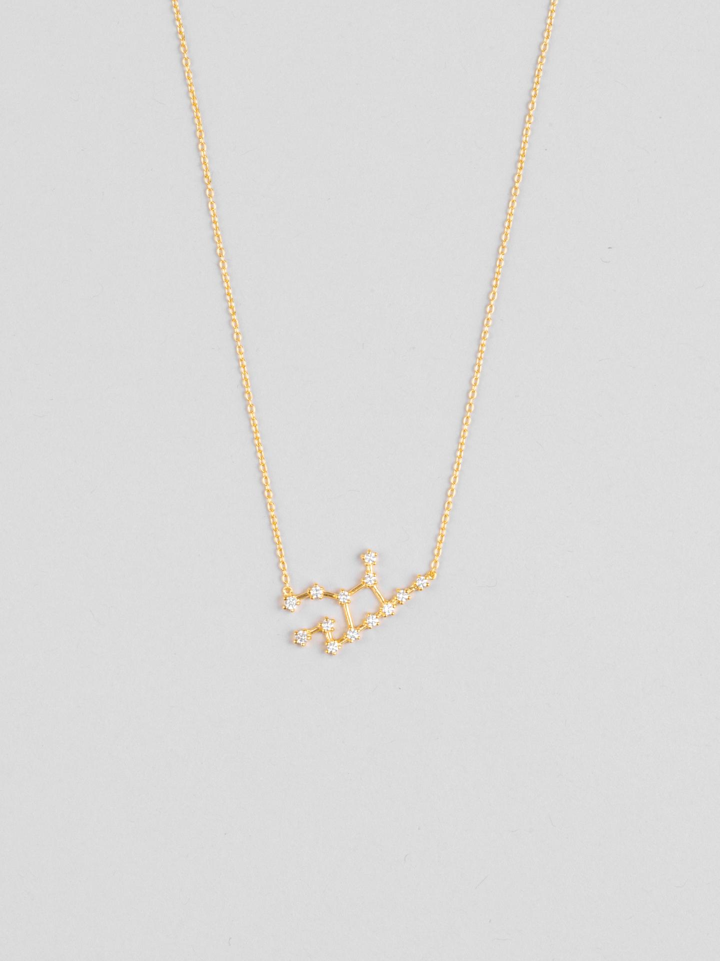 Virgo Zodiac Constellation Necklace