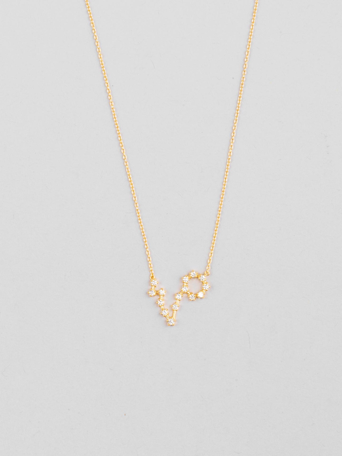 Pisces Zodiac Constellation Necklace