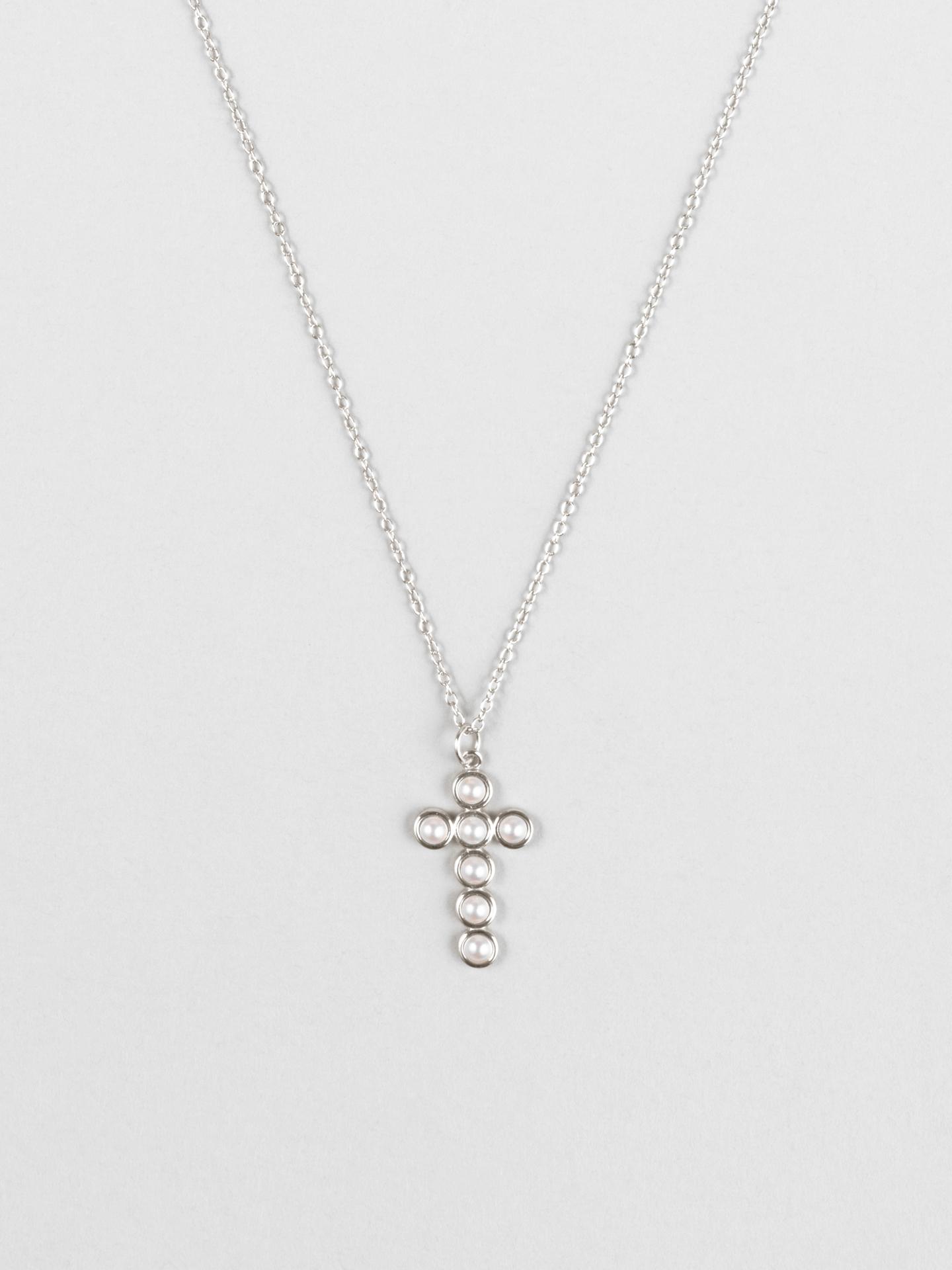 Swarovski Pearl Cross Necklace