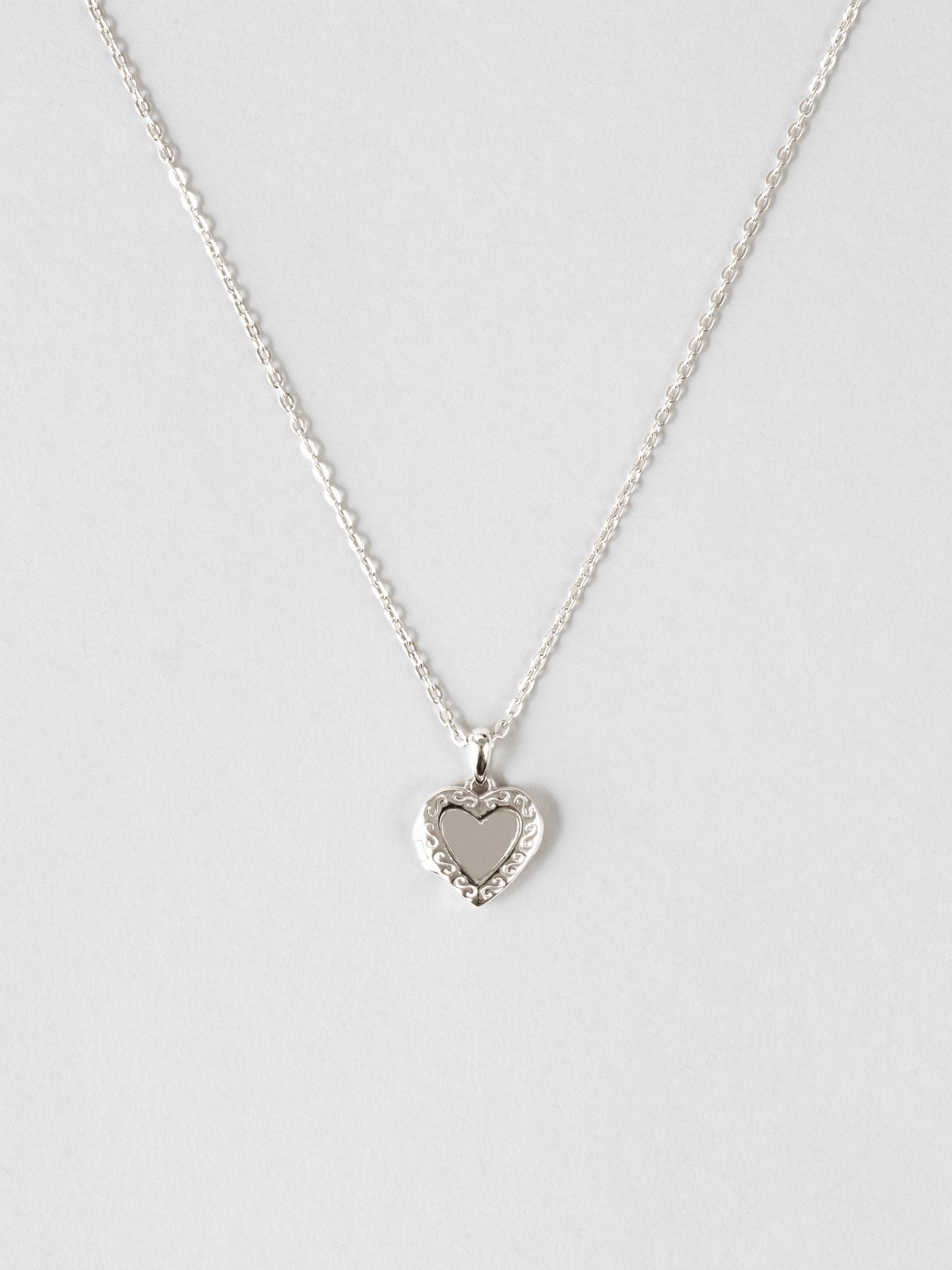 Heart Medallion Halskjede