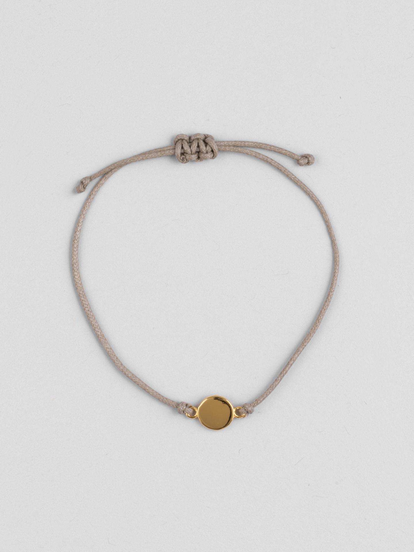 Round Engraving Braided Bracelet
