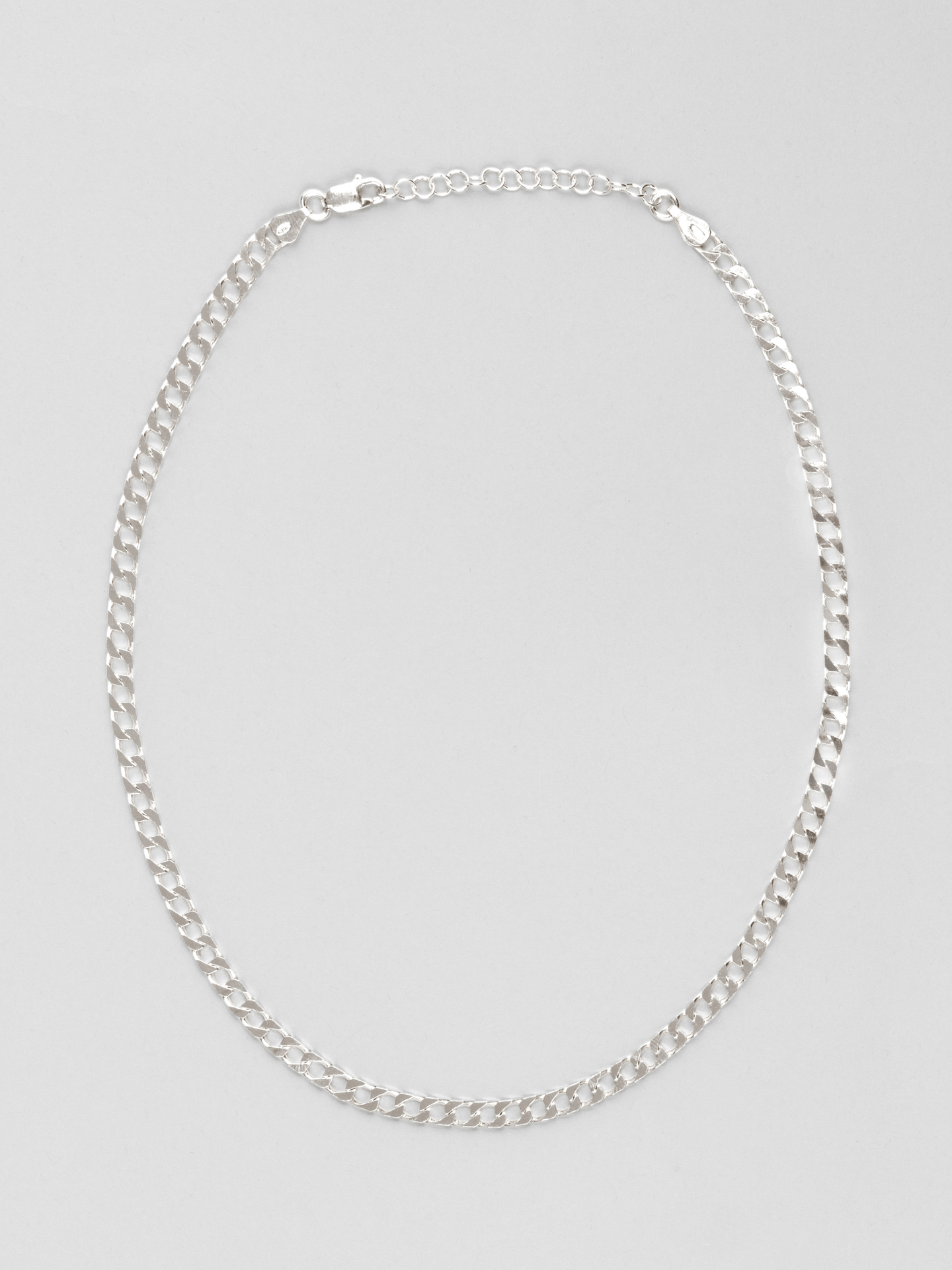 Square Curb Chain Necklace