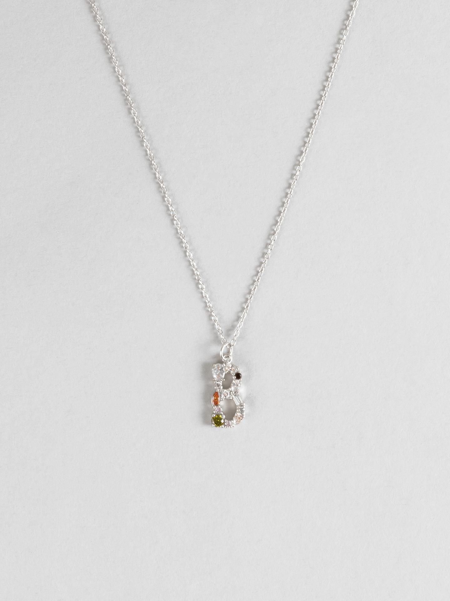 Cluster Letter B Necklace