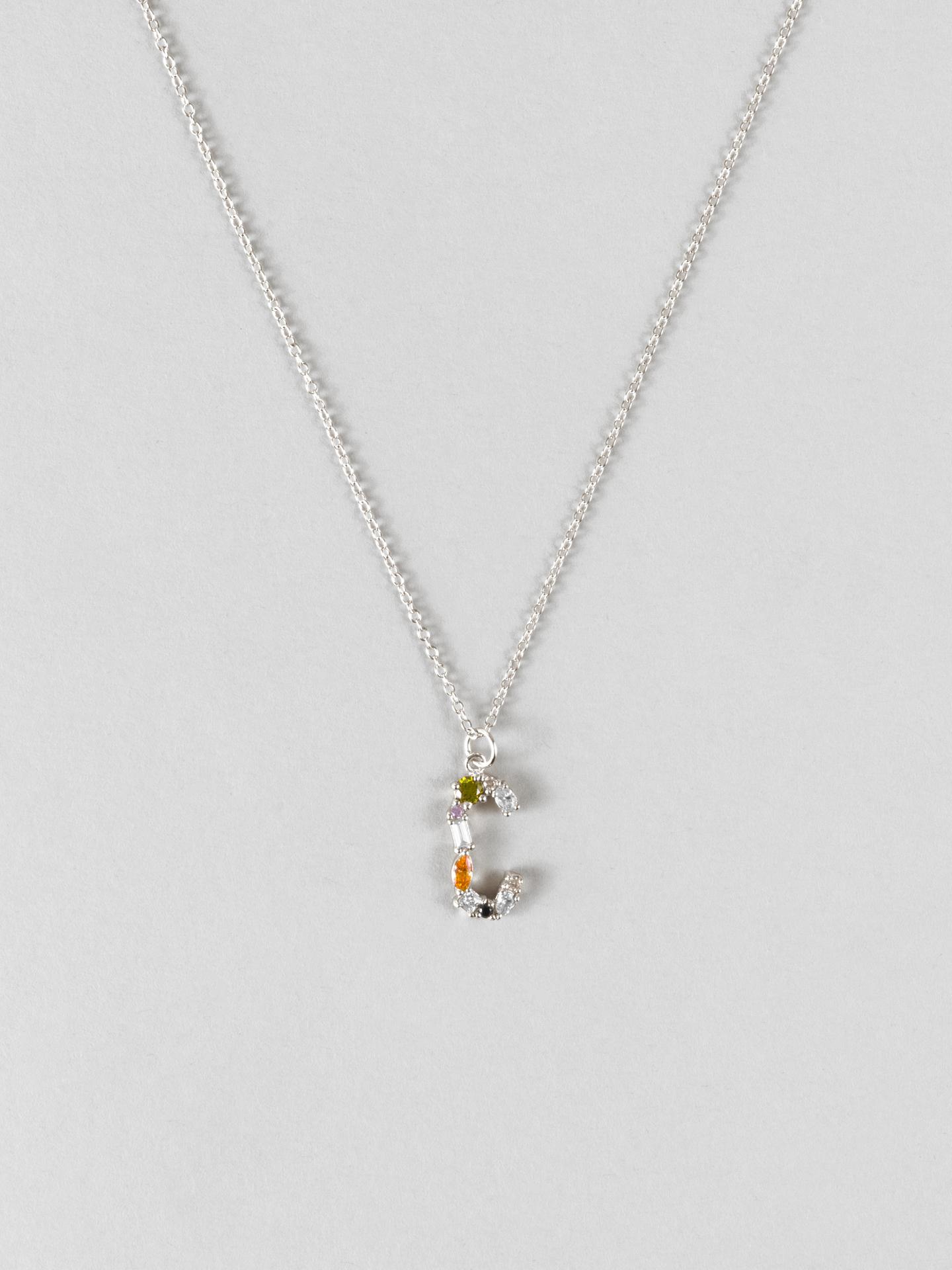 Cluster Letter C Necklace