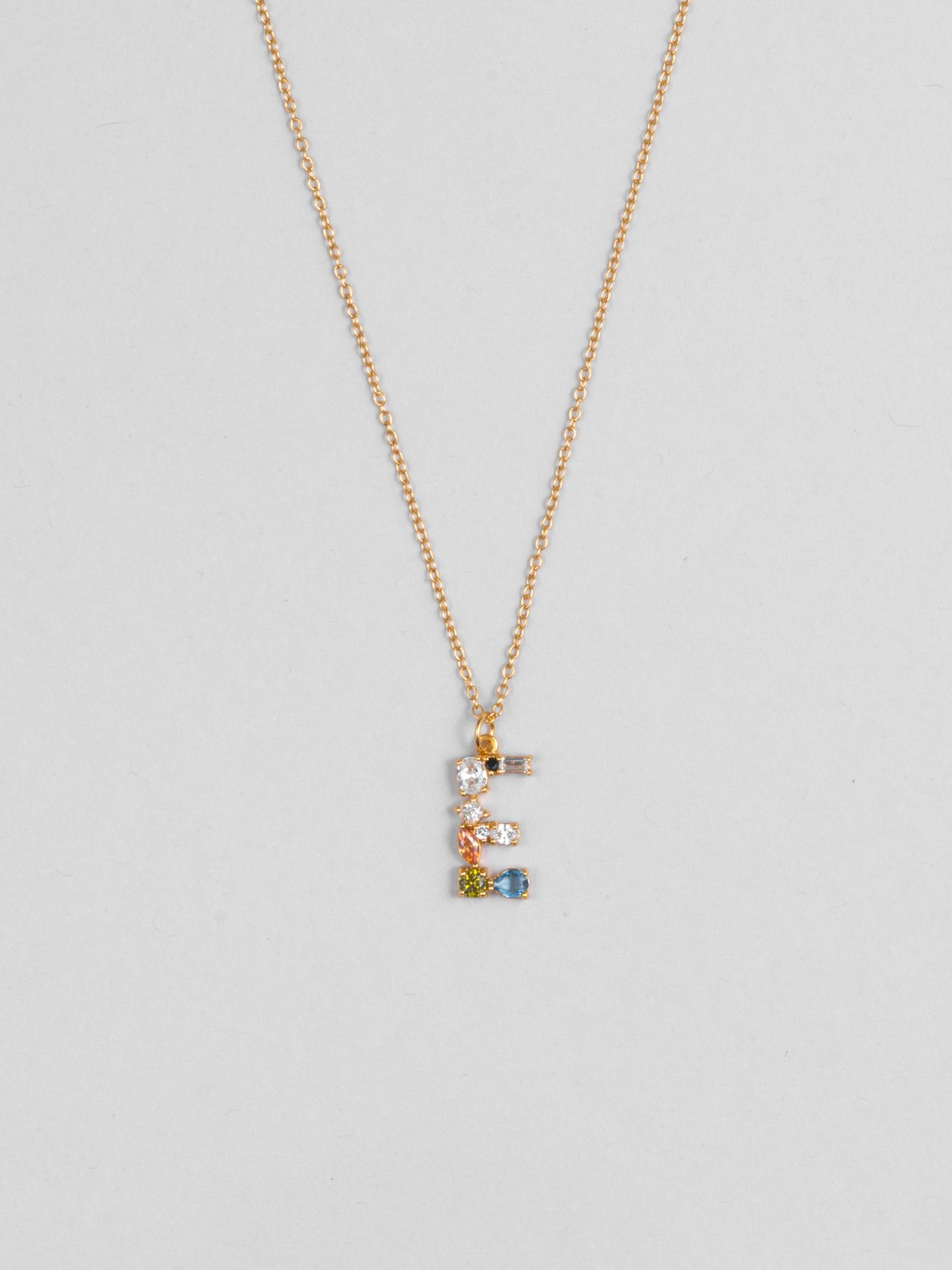 Cluster Letter E Necklace