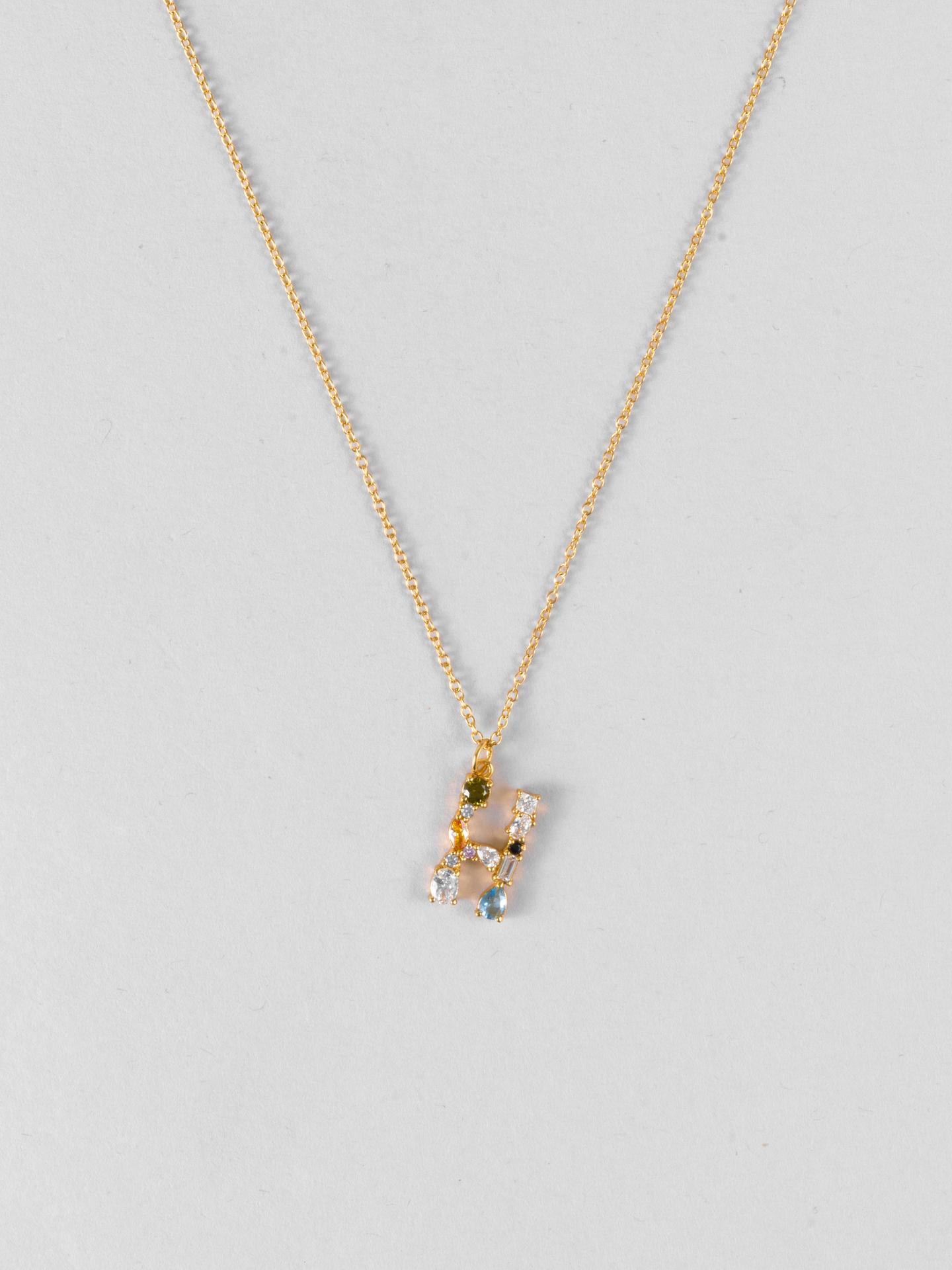 Cluster Letter H Necklace