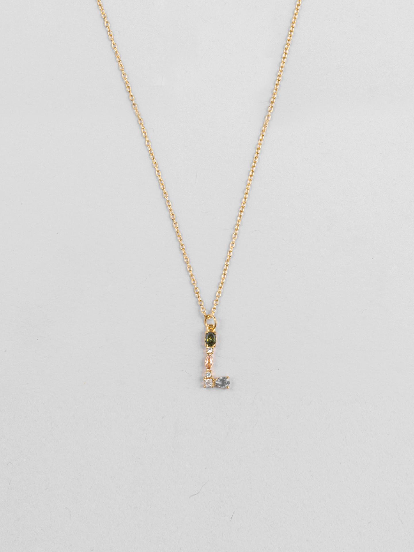 Cluster Letter L Necklace
