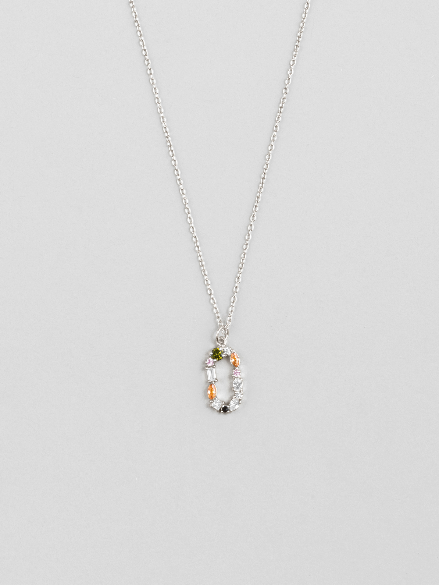 Cluster Letter O Necklace