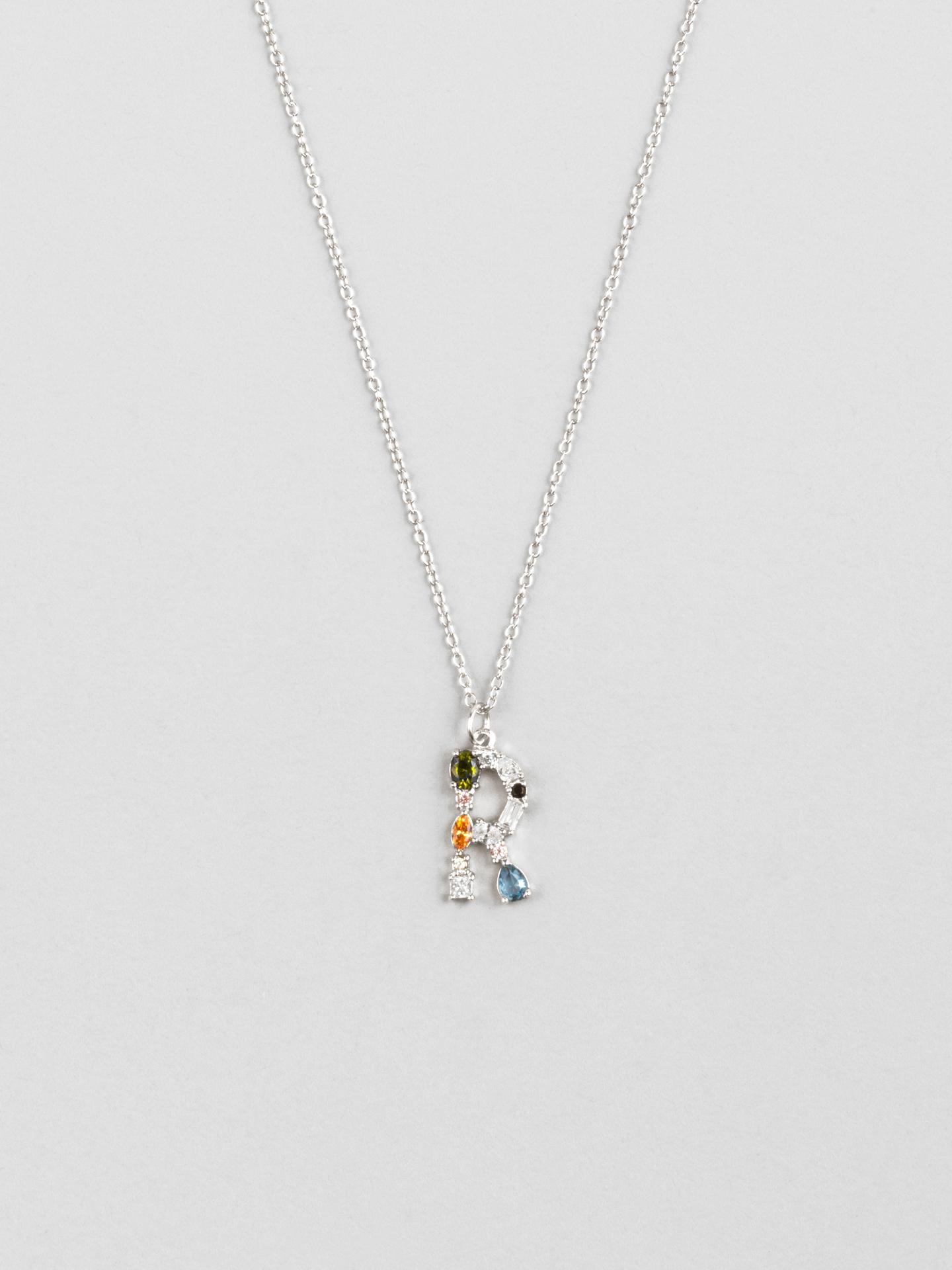 Cluster Letter R Necklace