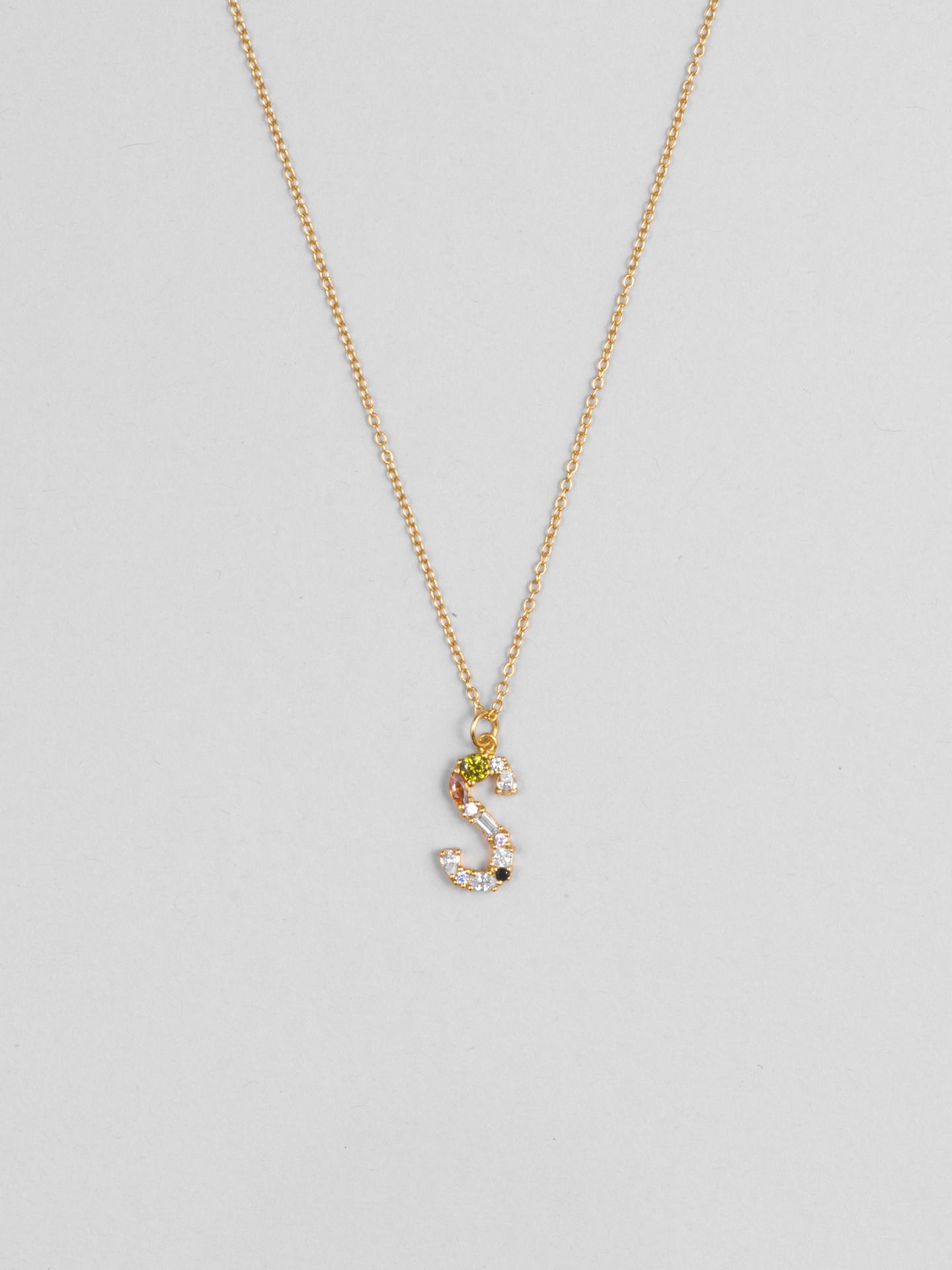 Cluster Letter S Necklace
