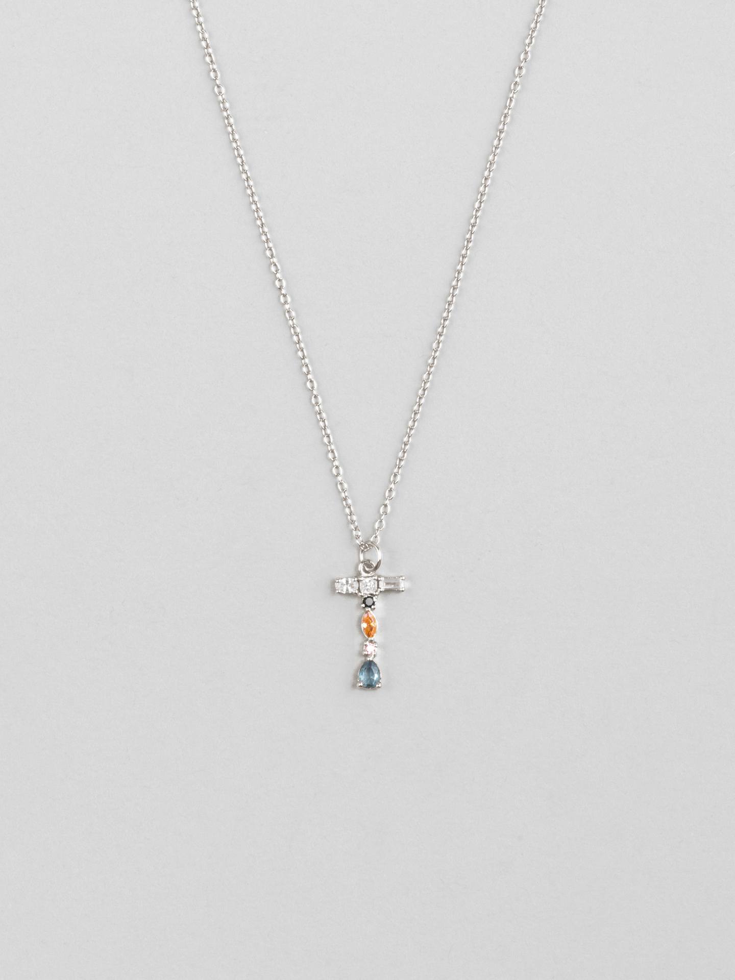Cluster Letter T Necklace