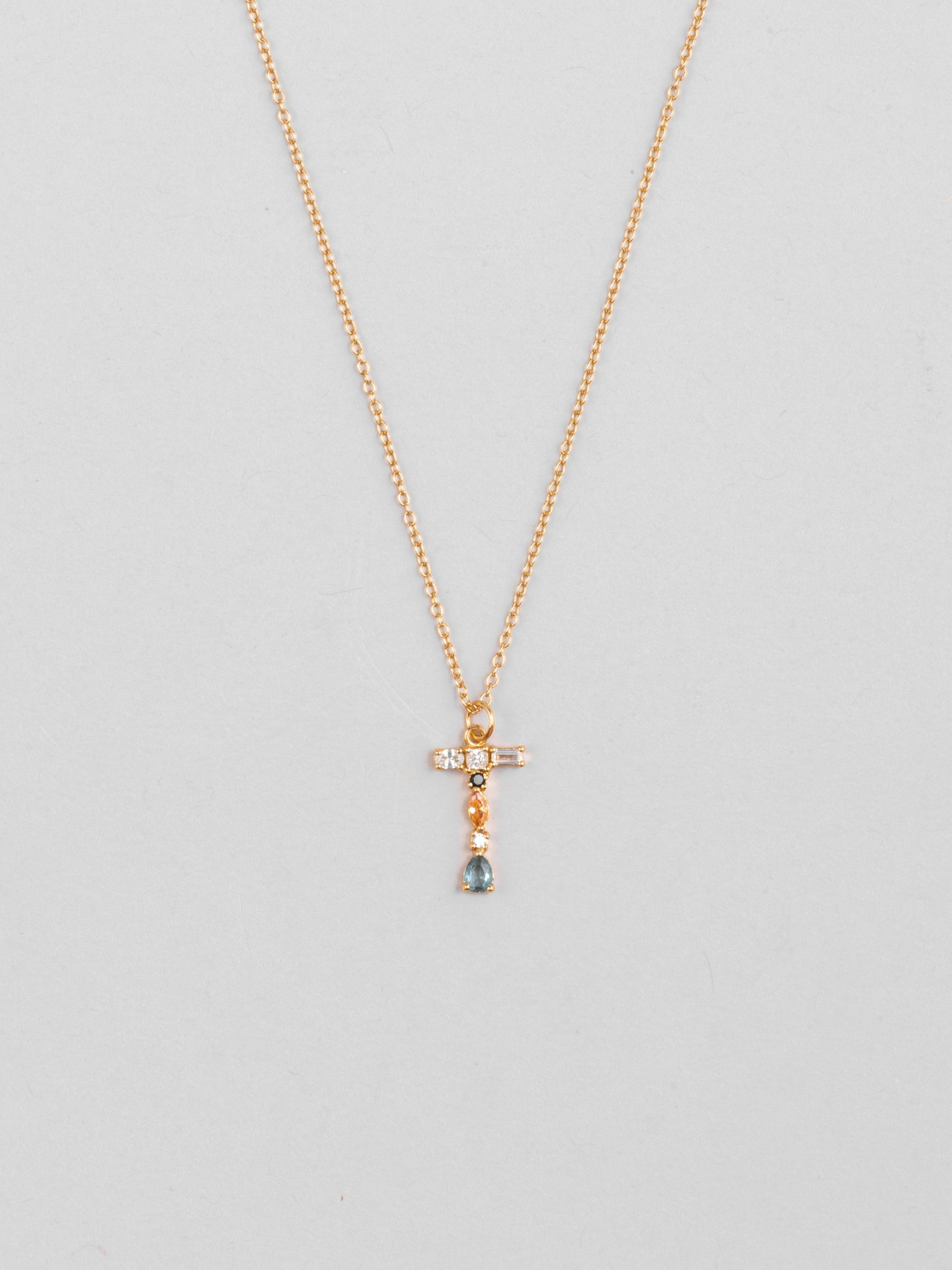 Collier Cluster Letter T