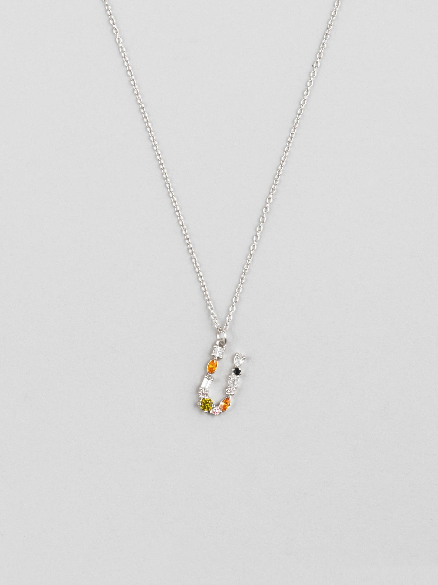 Cluster Letter U Necklace