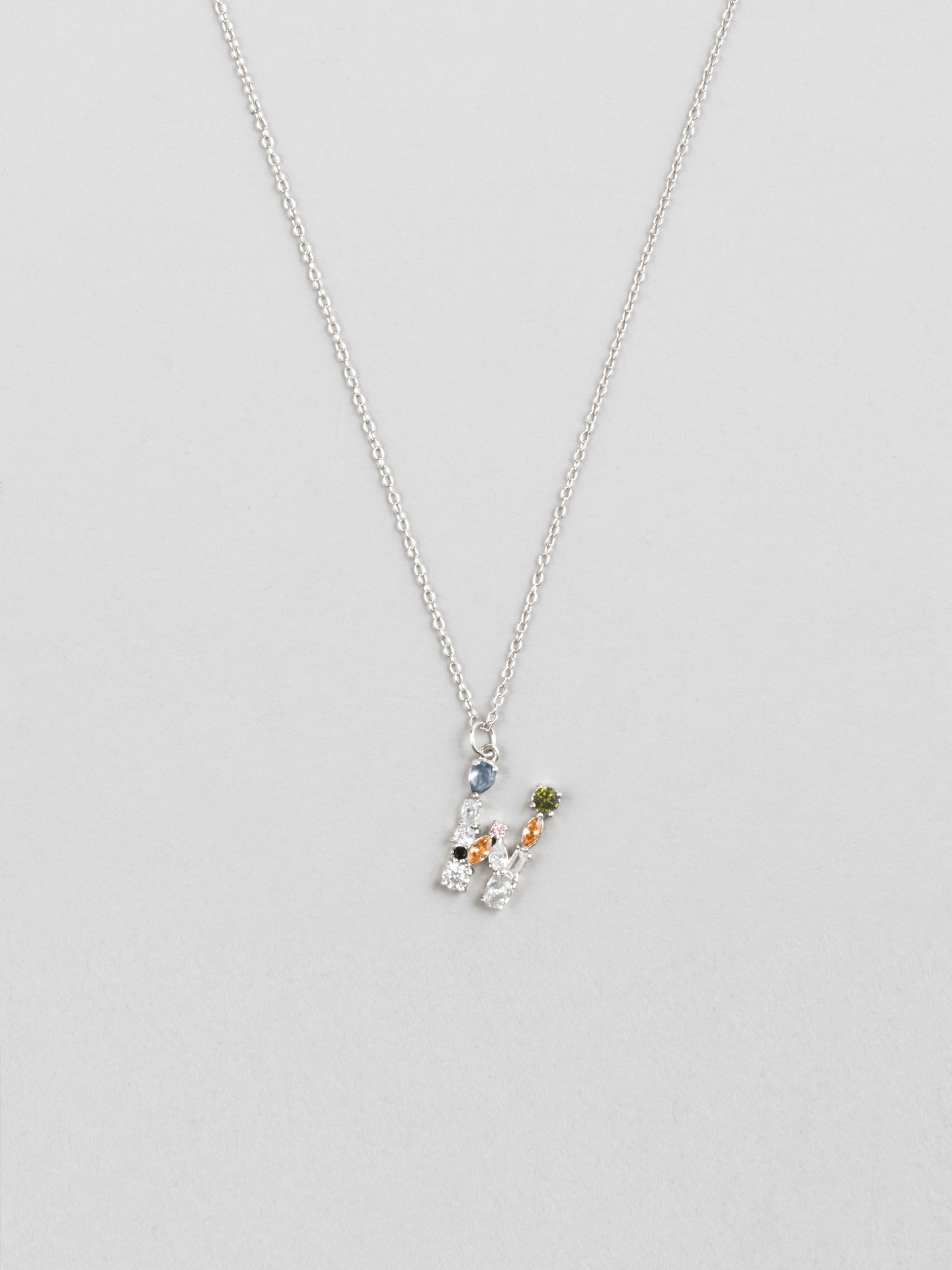 Cluster Letter W Necklace
