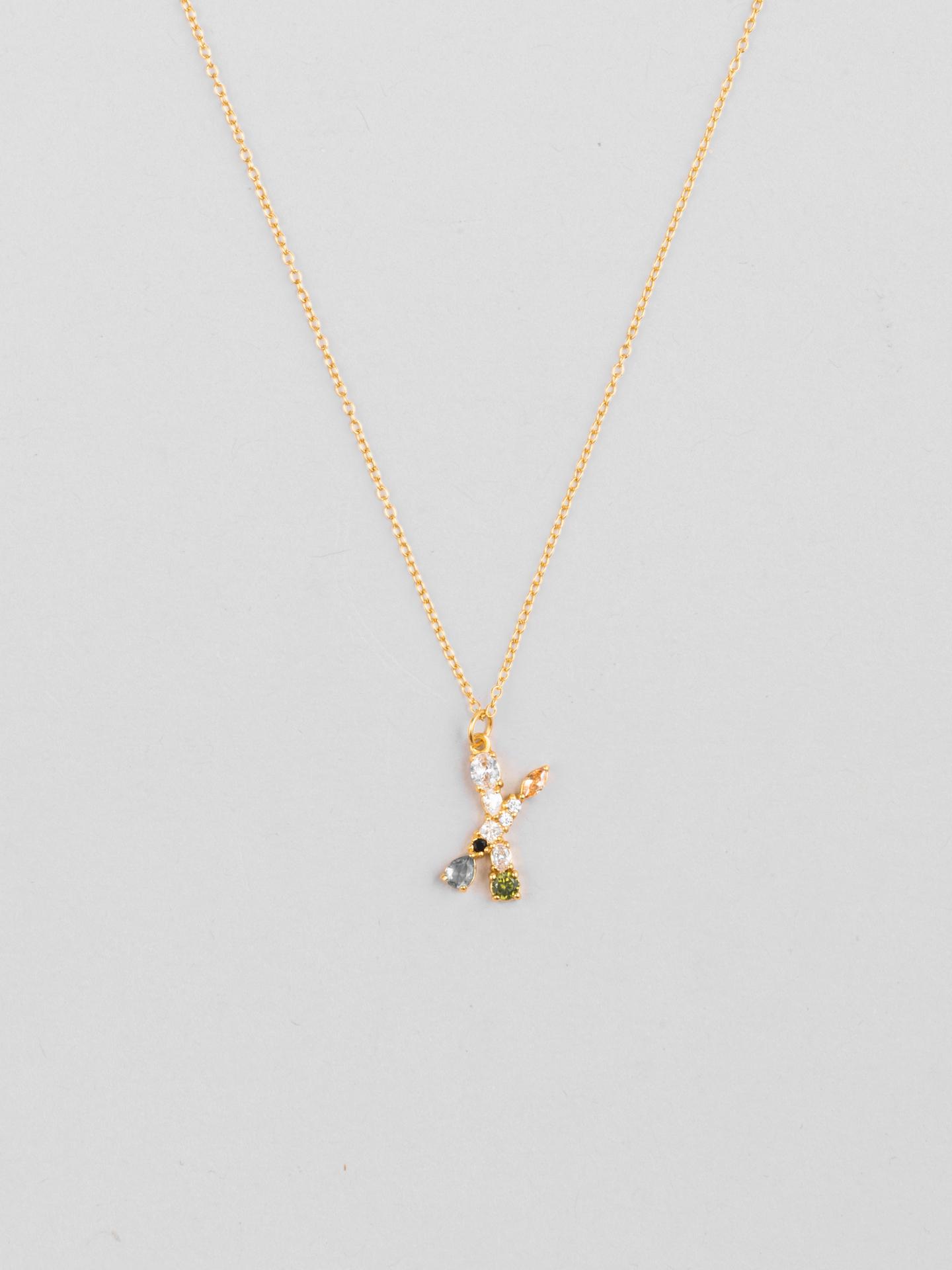 Cluster Letter X Necklace