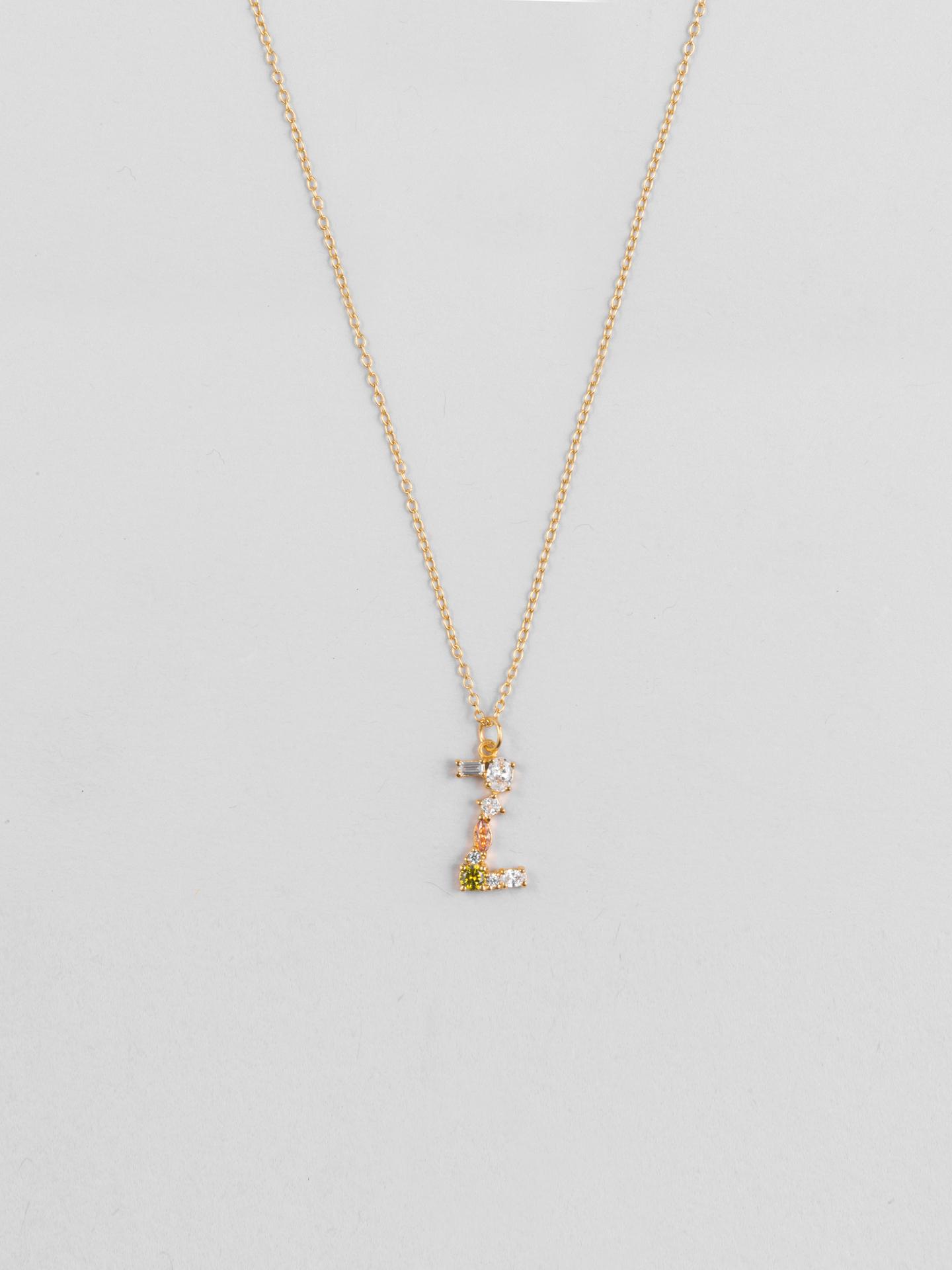 Cluster Letter Z Necklace