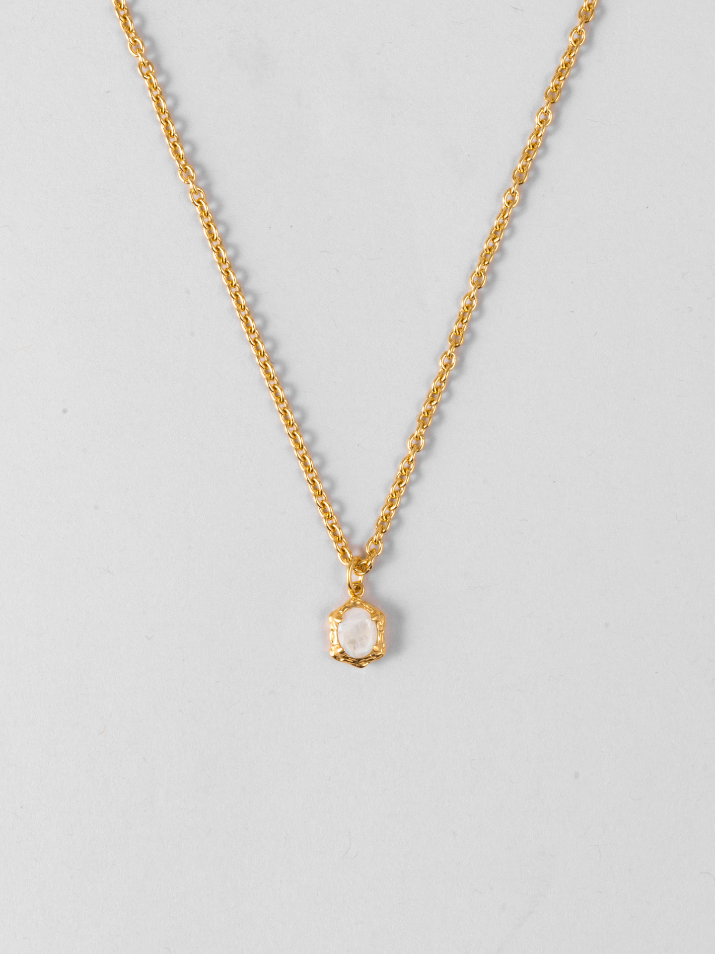 Genuine Moonstone Halskette