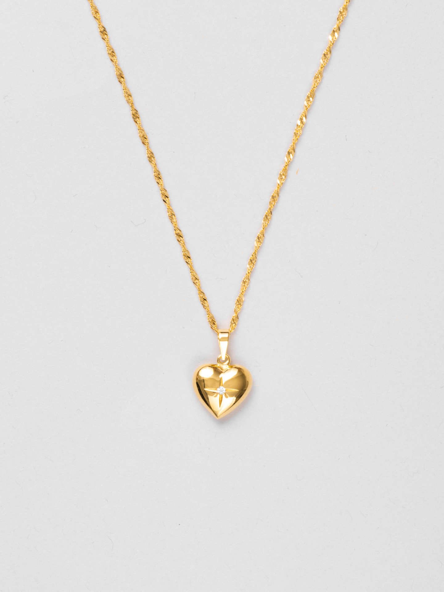 Solid Heart As Gold Necklace